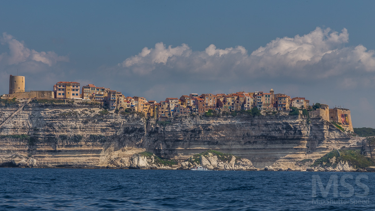 Village of Bonifacio on the rocks